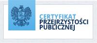 Certyfikat Przejrzyści Publicznej